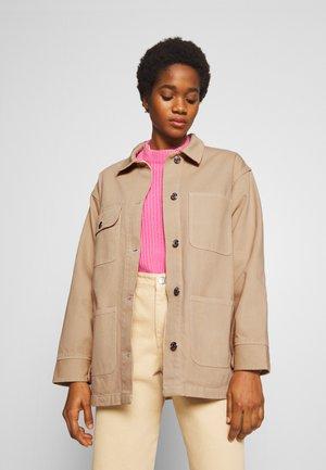 RONJA - Denim jacket - beige medium dusty