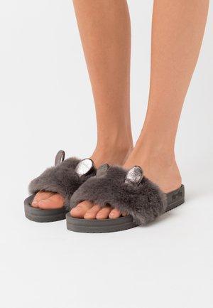 POOL MOUSE METALLIC - Slippers - dark grey