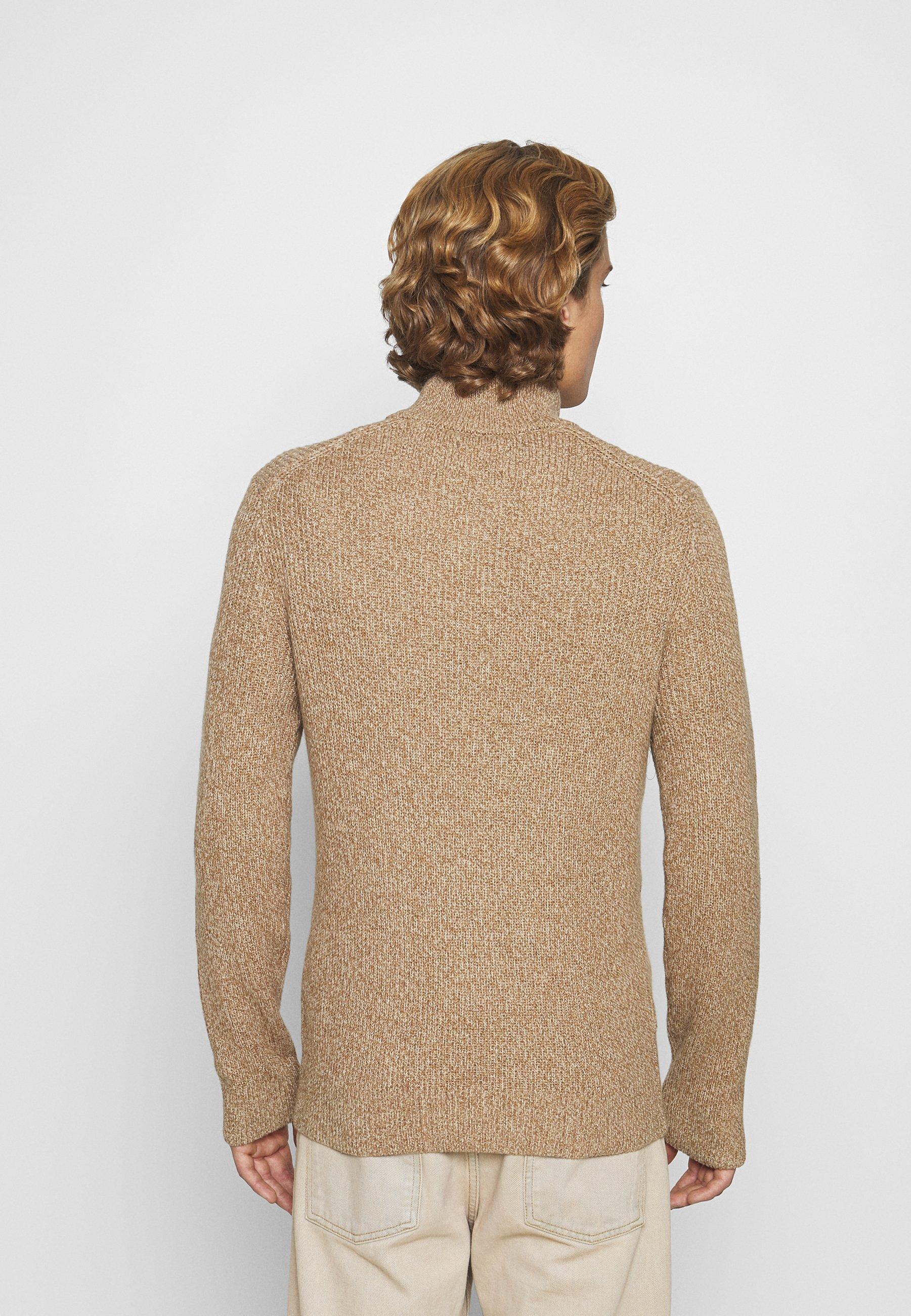 Abercrombie & Fitch Core Icon Zip - Strikkegenser Tan/beige