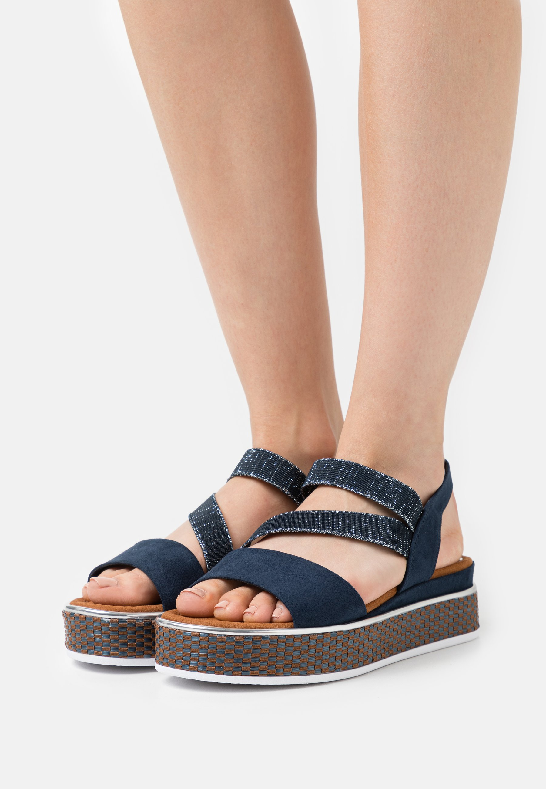 Women Platform sandals - navy