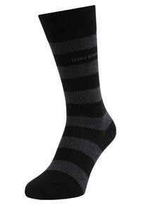 BOSS - BLOCK STRIPE 2 PACK - Socks - black - 1