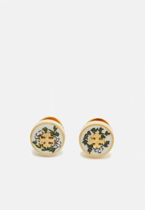 KIRA PRINTED CIRCLE STUD EARRING - Earrings - tory gold-coloured/daisy vines
