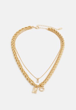 MULTIROW NECKLACE WITH TWISTED ROPE CHAINS - Smykke - gold-coloured