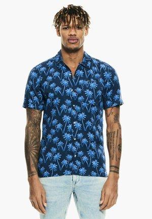WITH ALLOVER PRINT - Overhemd - indigo