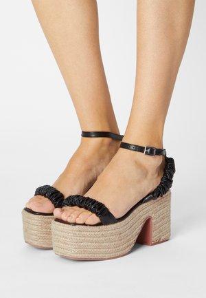 REMINGTON - Platform sandals - black