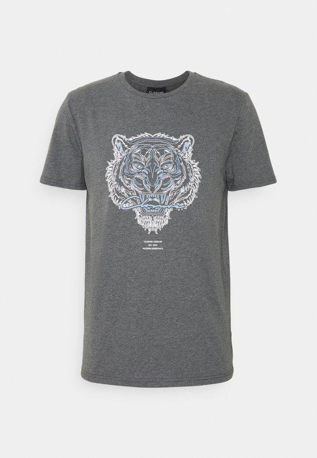 RIVAL TEE - T-shirt imprimé - anthrazit