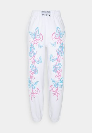 FLURO BUTTERFLY JOGGER - Tracksuit bottoms - white