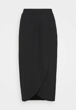 WRAP SKIRT - Pencil skirt - black