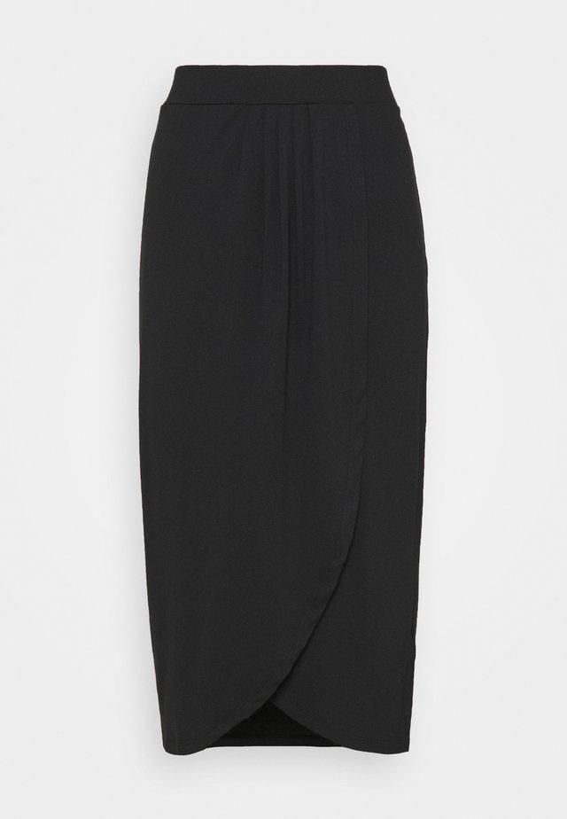 WRAP SKIRT - Spódnica ołówkowa  - black