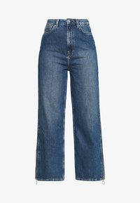 DUA LIPA x PEPE JEANS - Široké džíny - dark blue denim