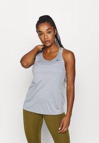 Nike Performance - TANK - Treningsskjorter - particle grey/black - 0