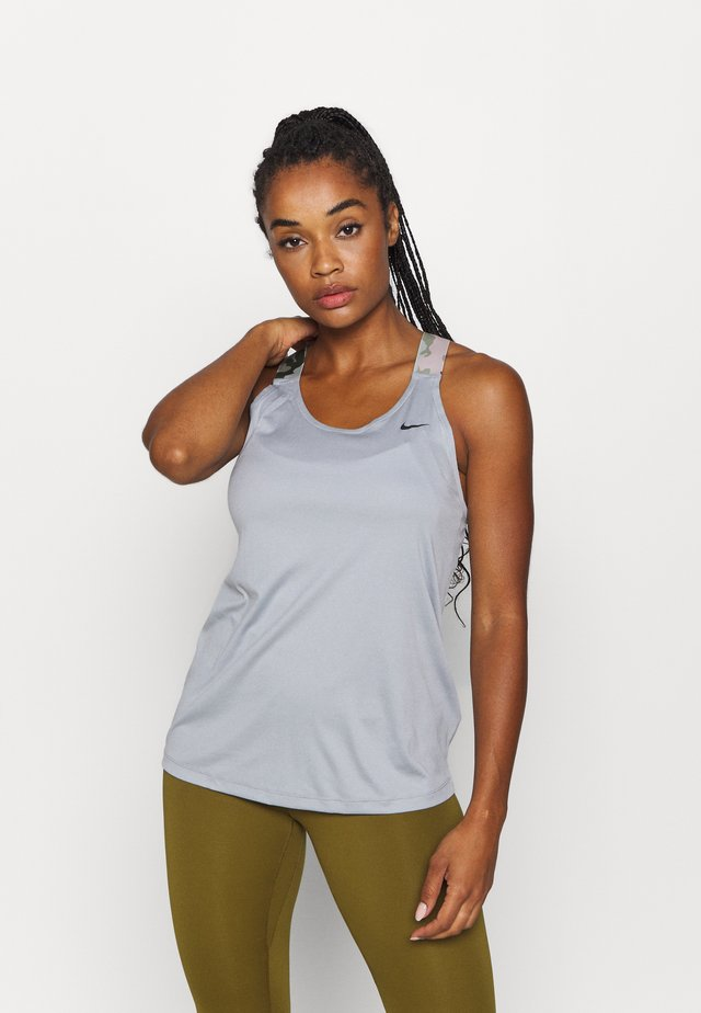 TANK - Sports shirt - particle grey/black