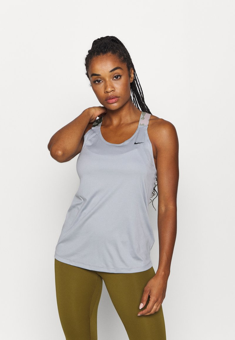 Nike Performance - TANK - Sports shirt - particle grey/black
