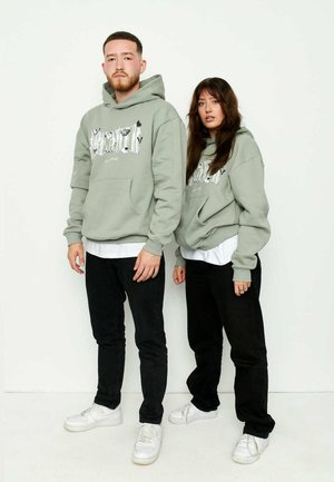 OVERSIZE SNIPPETS - Hoodie - oliv