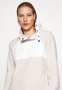 Abercrombie & Fitch - ASYMETRICAL SNAP - Sweat polaire - cream/cream - 4