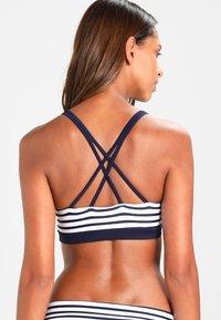 Venice Beach - BUSTIER - Bikini top - white/navy - 2