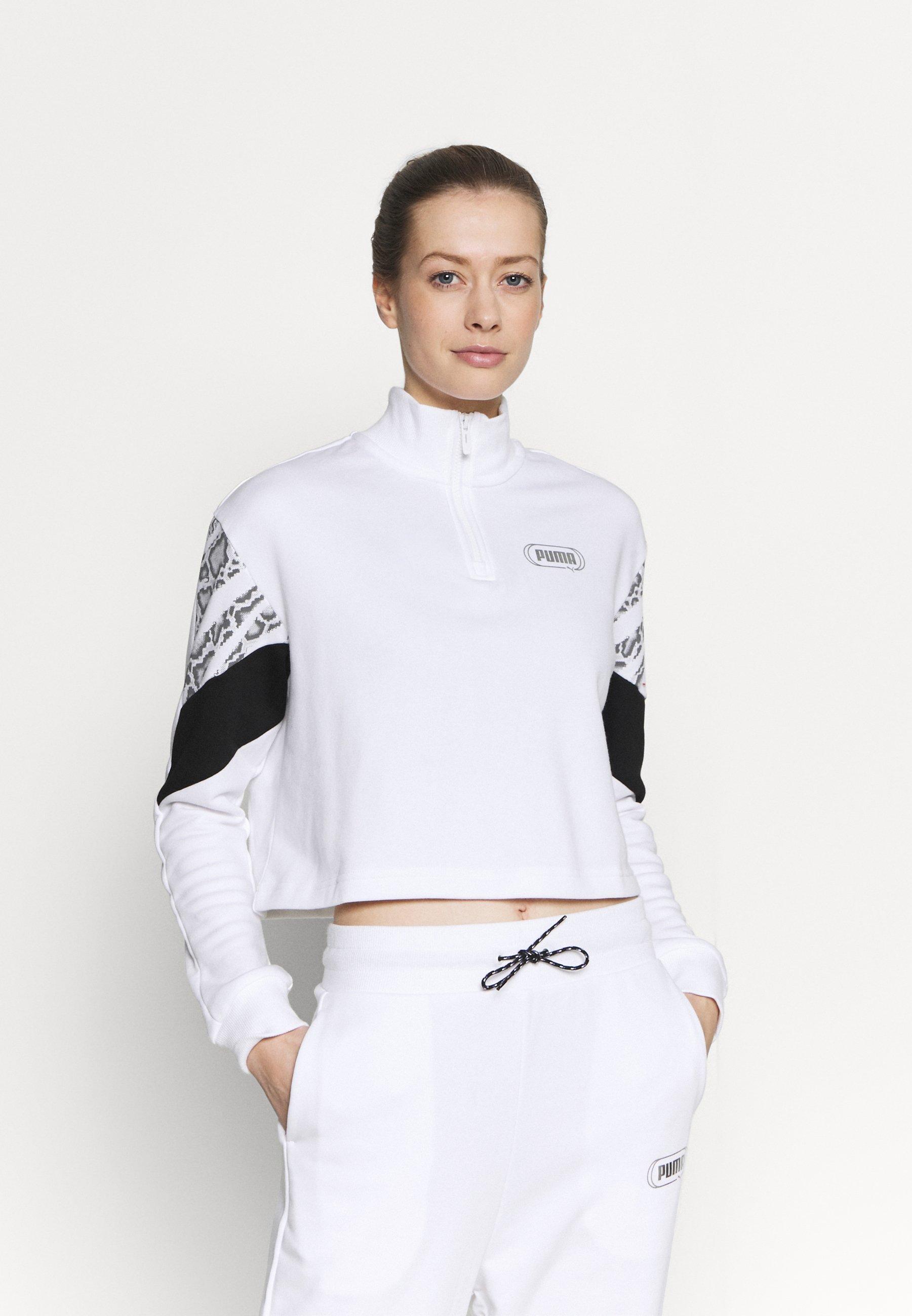 Femme REBEL ZIP CREW - Sweatshirt