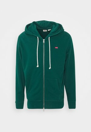 NEW ORIGINAL ZIP UP - Huvtröja med dragkedja - greens