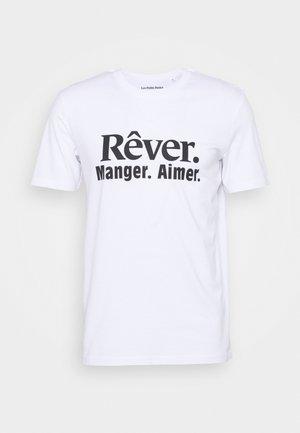 REVER MANGER AIMER UNISEX - T-shirts med print - white/black