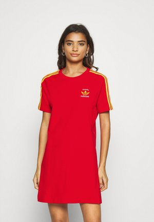 STRIPES SPORTS INSPIRED REGULAR DRESS - Trikoomekko - red