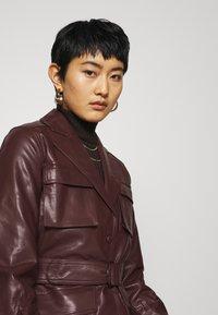 Twist & Tango - CECILIA JACKET - Faux leather jacket - reddish brown - 4