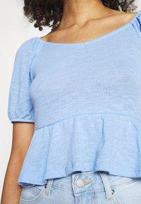 Pieces - PCTENZIN - T-shirt basic - vista blue - 4
