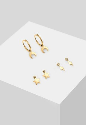 SET HOOPS ASTRO DESIGN - Kolczyki - gold-coloured