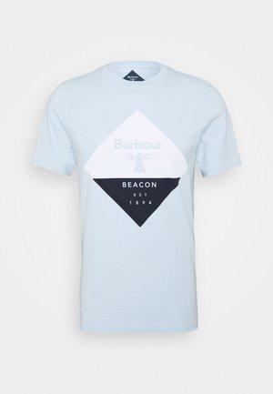 DIAMOND TEE - T-shirt med print - pale sky