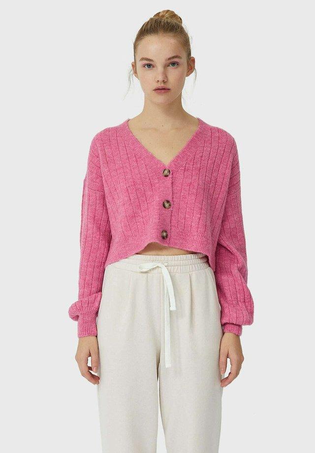 Kardigan - neon pink