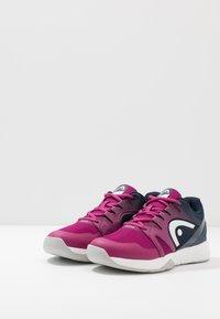 Head - SPRINT 2.5 CARPET WOMEN - Tenisové boty na umělý trávník - plum - 2