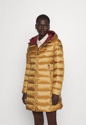 BASIC HOODED LIGHT JACKET LONG  - Kabát zprachového peří - beige