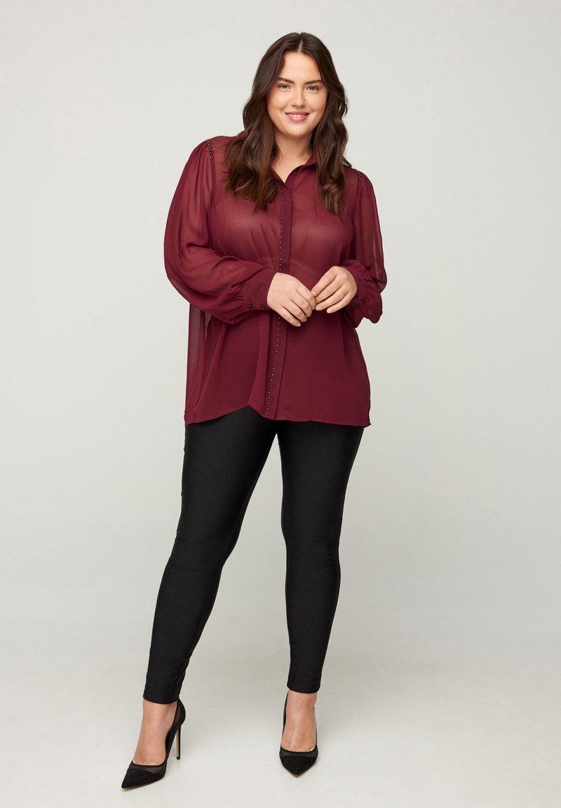 Zizzi - Button-down blouse - red