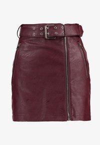 Topshop - HARDWEAR DETAIL - Mini skirt - burgundy - 3