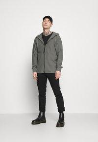 G-Star - TONAL JIRGI HOOD  - Zip-up hoodie - honeycomb jersey io - gs grey - 1