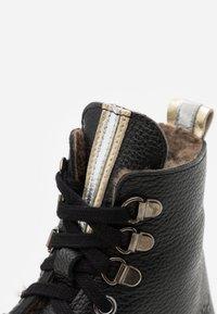 clic! - Šněrovací kotníkové boty - black - 5