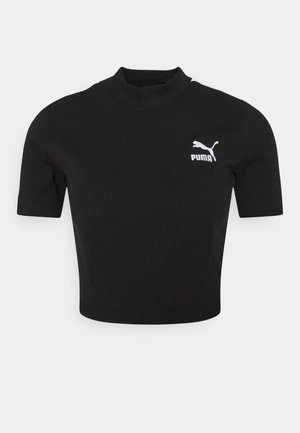 CLASSICS MOCK NECK - T-shirt basic - black