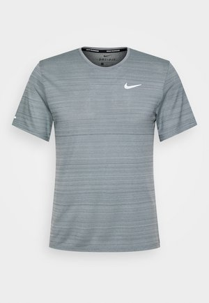MILER  - T-shirt - bas - smoke grey/reflective silver