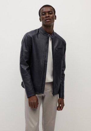 JOSENO2 - Faux leather jacket - dunkles marineblau