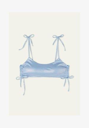 MIT TUNNELZUG SHINY - Bikini top - bright pacific