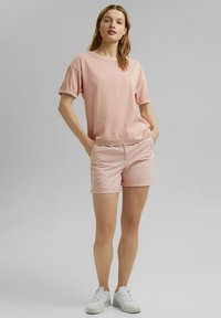 Esprit - Basic T-shirt - nude - 1