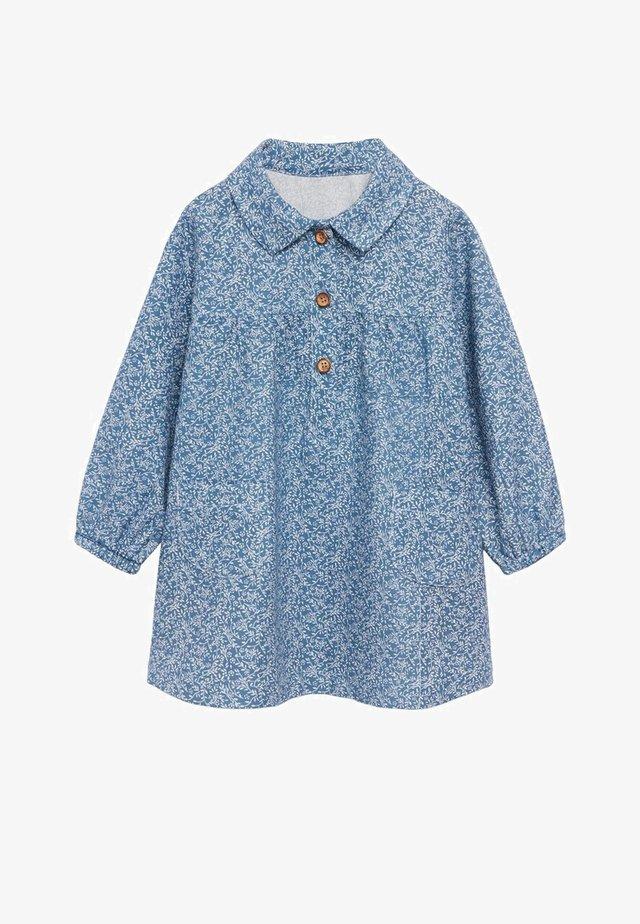 ELVIRA - Blusenkleid - blauw