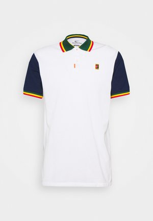 THE HERITGE SLIM - T-shirt de sport - white/binary blue