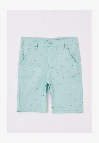 Jeansshorts - turquoise