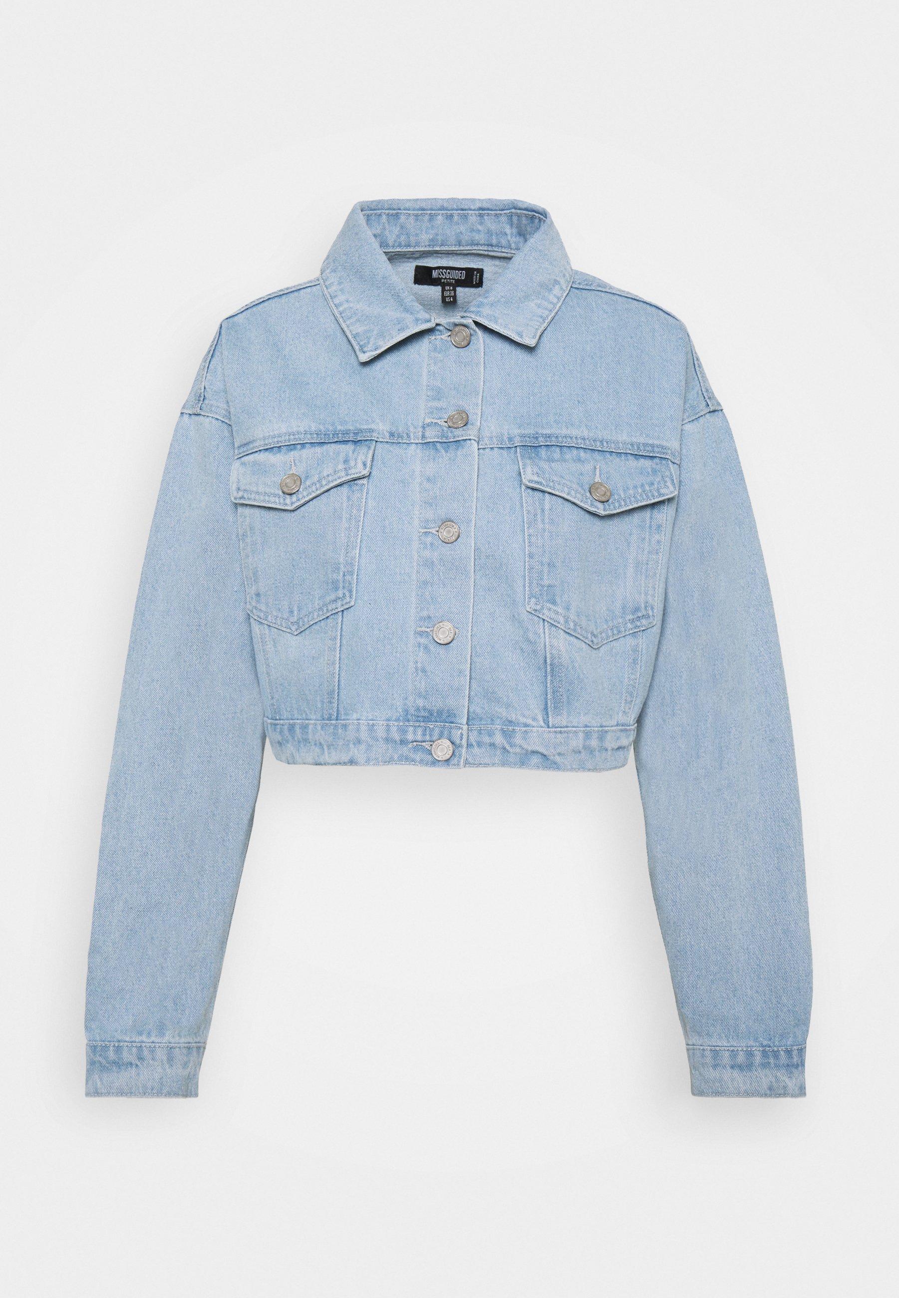 Women COLOURBLOCK CROP JACKET - Denim jacket