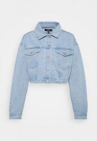 Missguided Petite - COLOURBLOCK CROP JACKET - Denim jacket - blue - 0