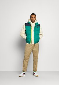 Tommy Jeans - CORP VEST - Waistcoat - midwest green/multi - 1