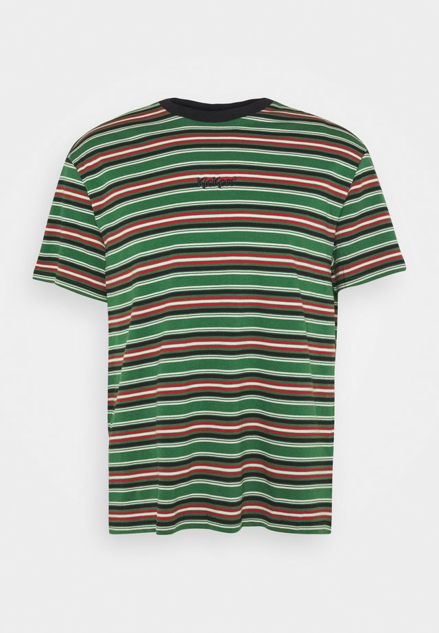 MULTI STRIPE SHORT SLEEVE TEE - Printtipaita - multi-coloured