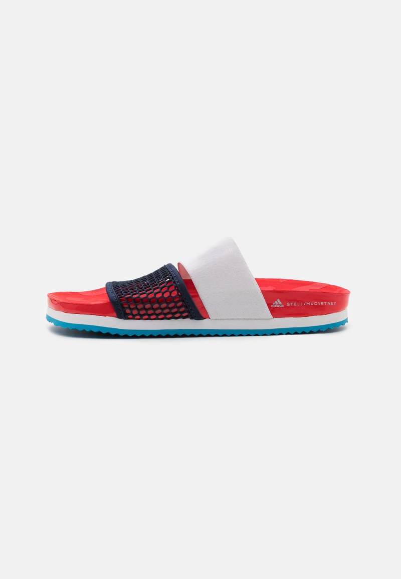 adidas by Stella McCartney - ASMC LETTE - Chanclas de baño - vivid red/collegiate navy/storm blue