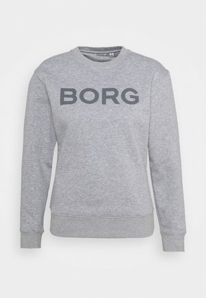 LOGO CREW - Sweater - light grey melange