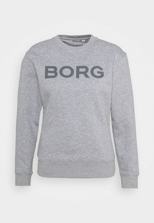 LOGO CREW - Sweatshirt - light grey melange
